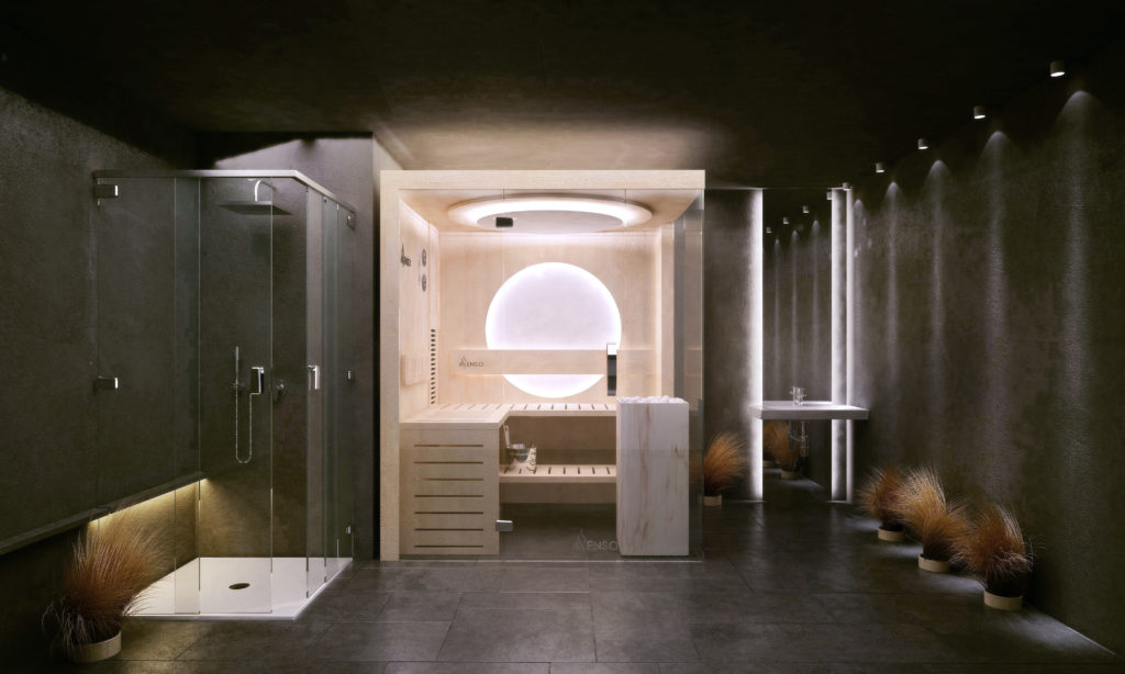 Sauna glamour marble