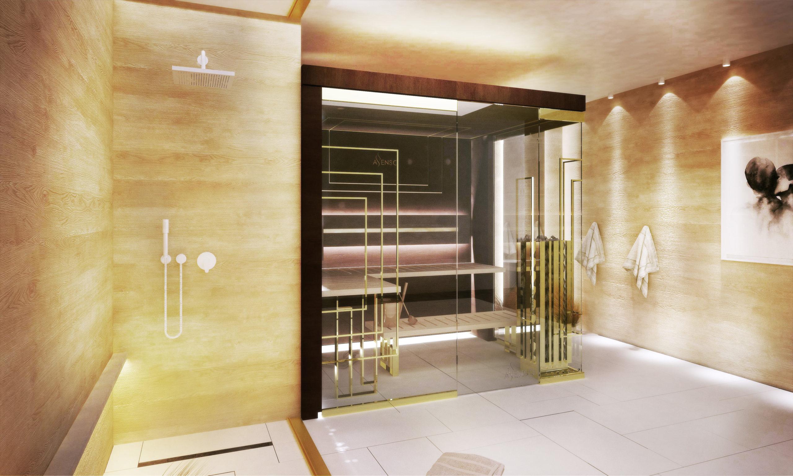 Glamour gold sauna