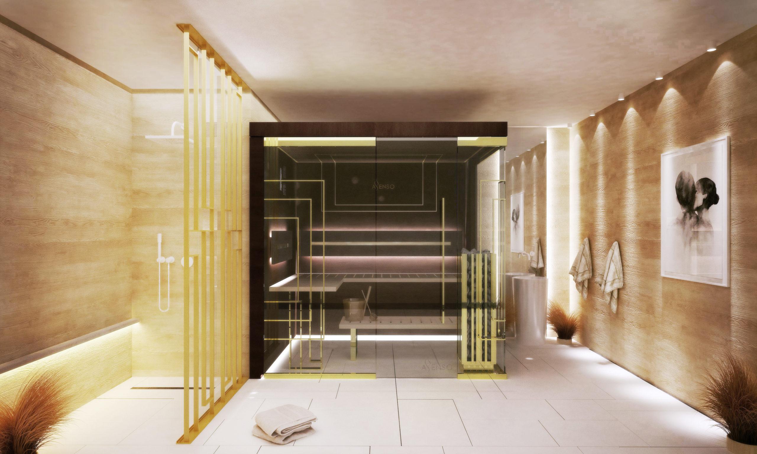 Sauna glamour gold