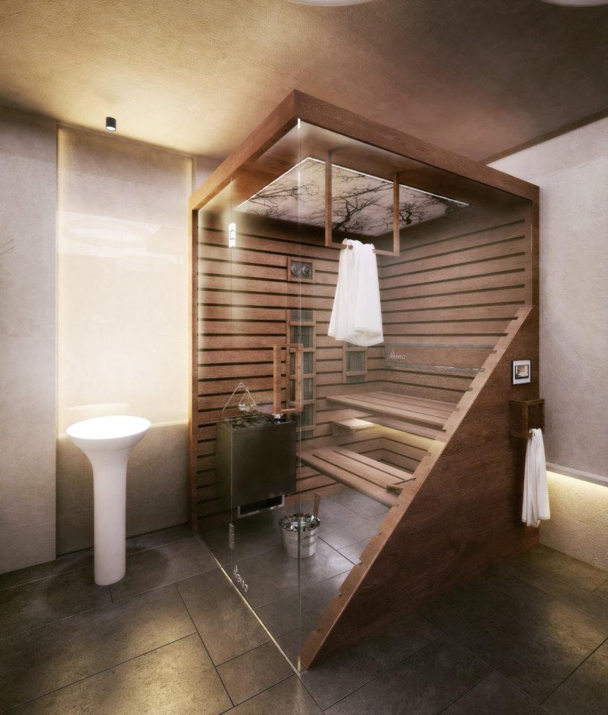 Sauna scandi brun