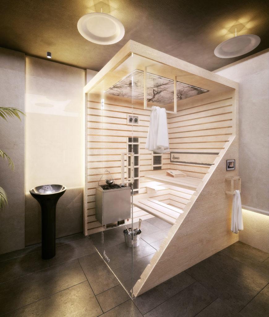 Sauna scandi ljus