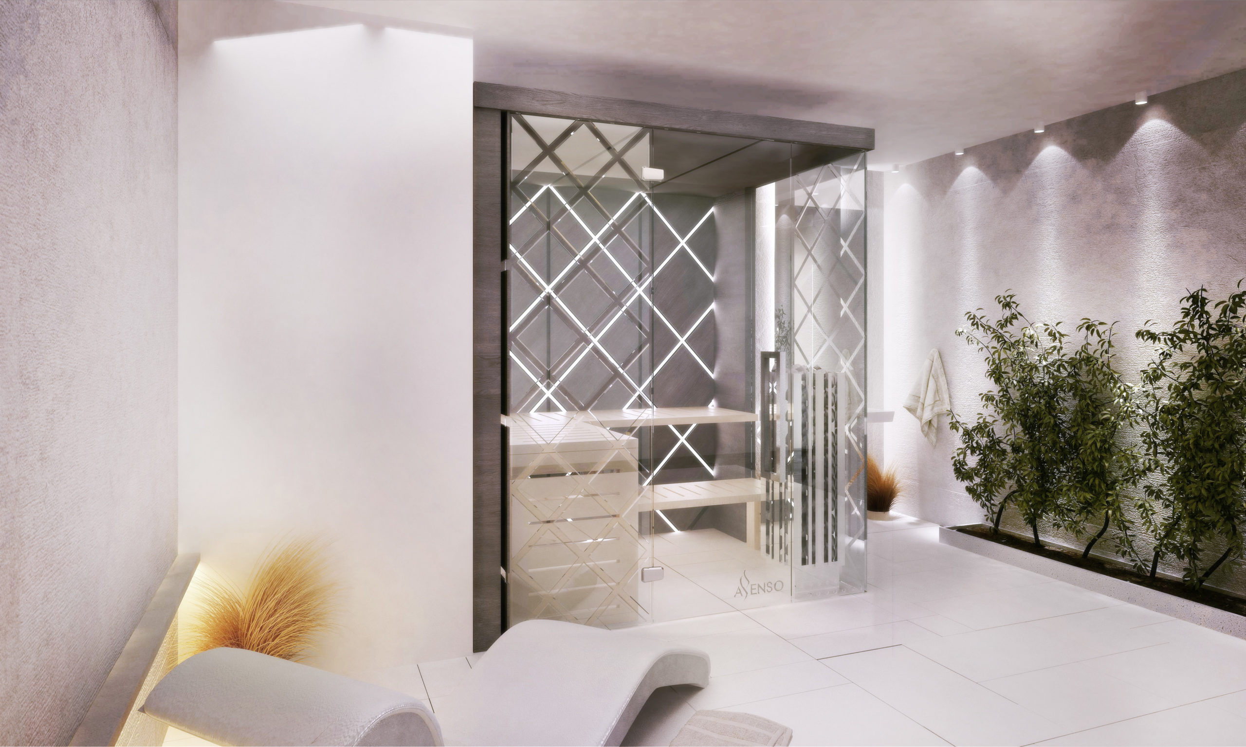 Glamour diamond sauna