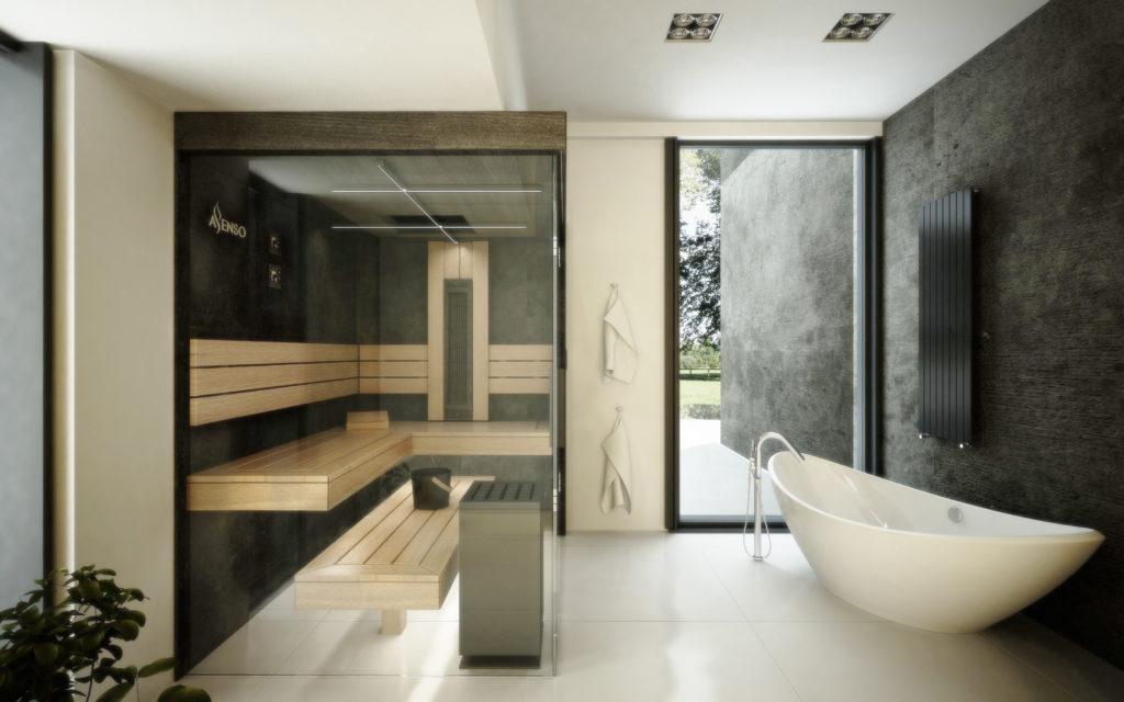 sauna domowa urban black