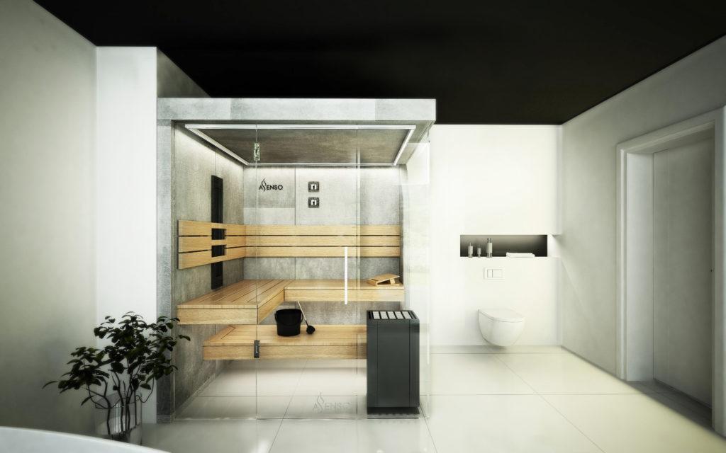 sauna domowa urban grey
