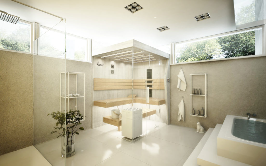 urban white sauna