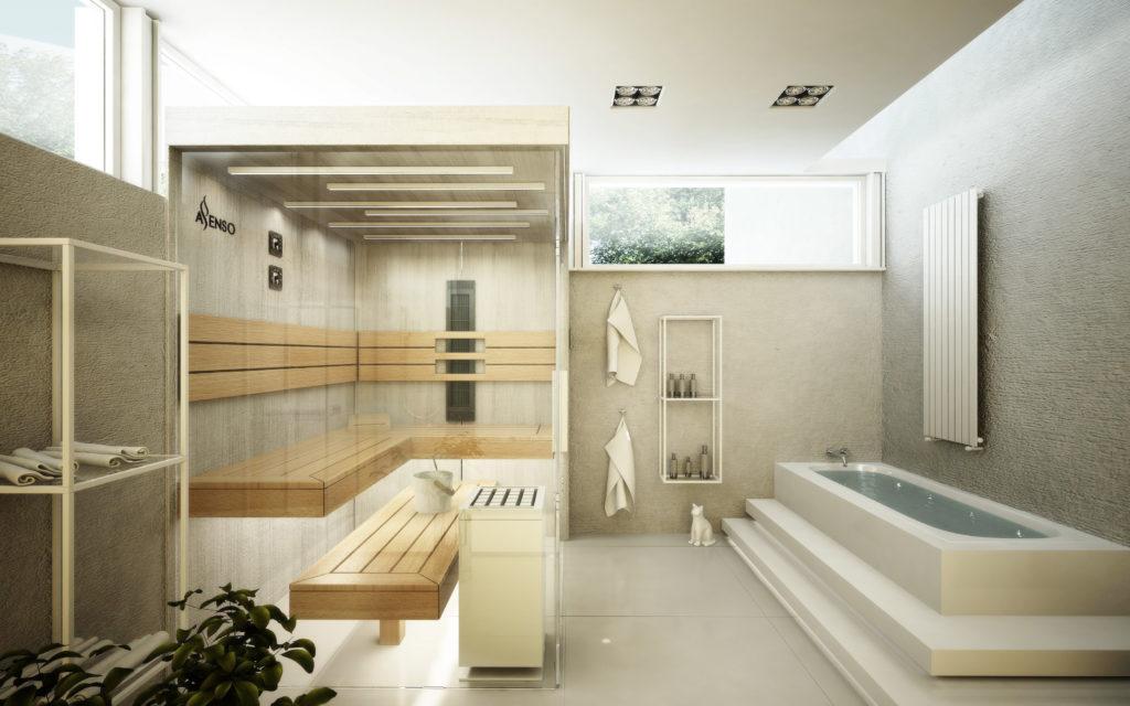 Sauna urban white