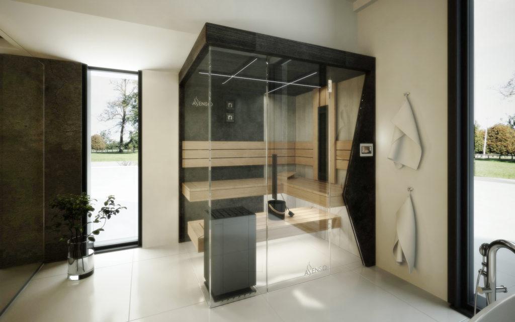 Czarna sauna domowa urban black