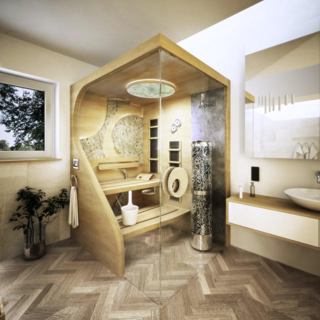 sauna domowa organic camomile