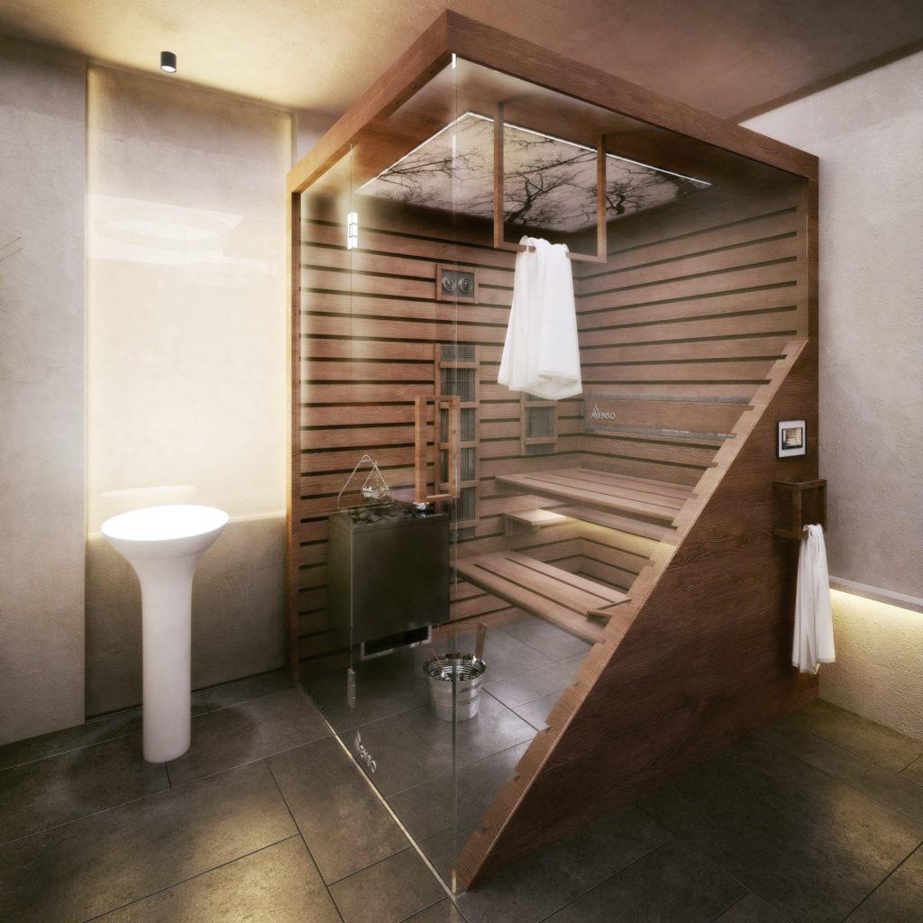 sauna domowa scandi brun