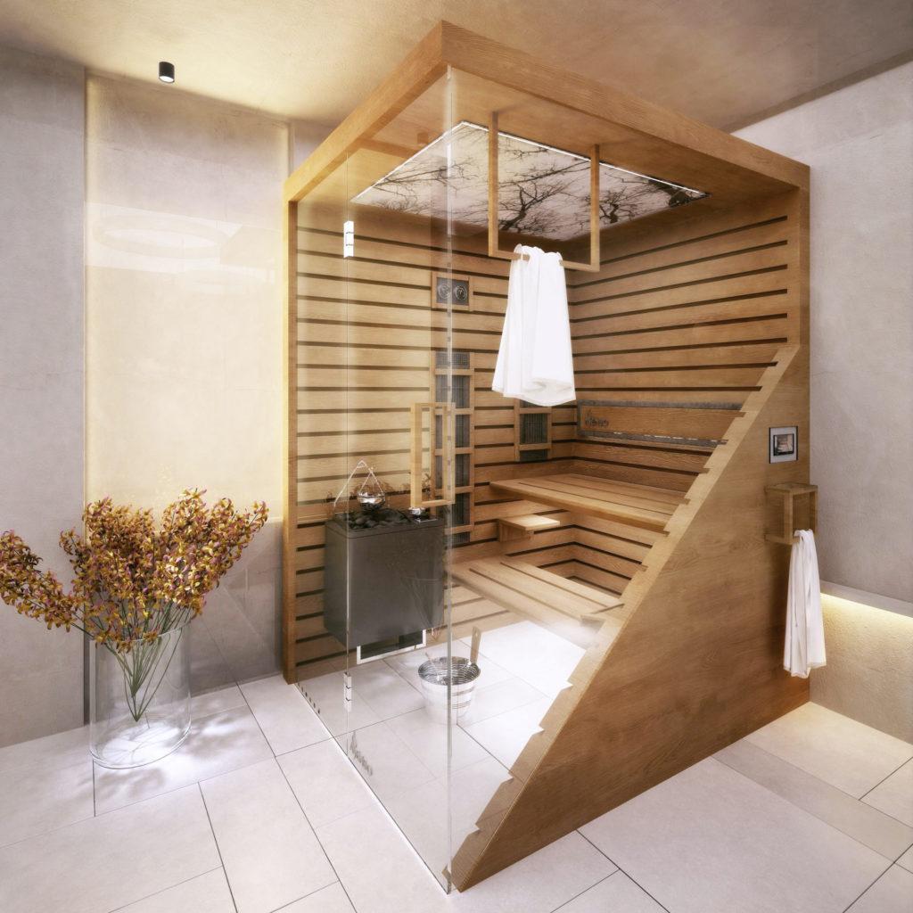 sauna domowa scandi mork